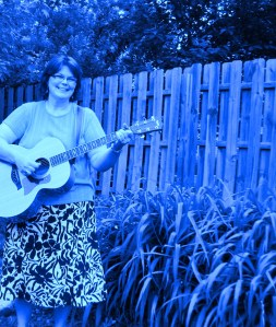 Me in 2009. Apparently I'm playing the blues!