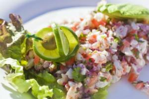 Seafood Ceviche recipe from Men's Fitness: http://www.mensfitness.com/nutrition/what-to-eat/18-easy-paleo-diet-recipes?page=7 Looks like a great lunch choice.