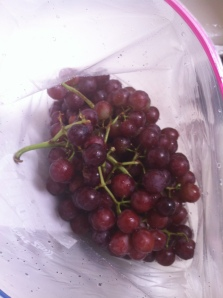 Frozen grapes bag