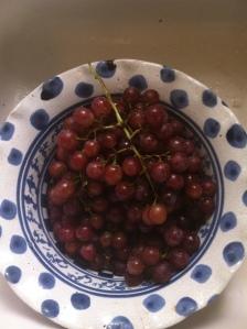 frozen grapes bowl