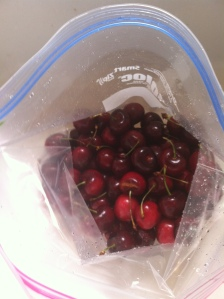 frozen sweet cherries bag