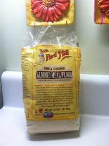 This is the brand of Almond Meal/Flour I usually use. I don't think it's organic, but it's available at most of the grocery stores near me, and that makes in convenient.