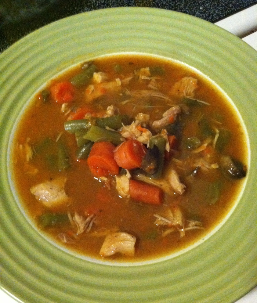 "Yum oh yum! I wish you could smell the smoked paprika aroma hovering over this bowl! This stuff is Hearty Turkey Winter Soup is not just hearty, it's heartwarming and heart healthy! I ""heart"" it."