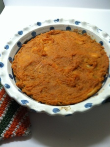 This Sweet Potato Apple Pie is scrump-dillyicious! I used the recipe created by Paleo On a Budget, a blog I highly recommend. http://paleoonabudget.com/