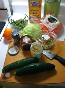 Most of the stuff in this photo was going bad. It was up to me to save it! The solution: Veggie Hash with Ham.
