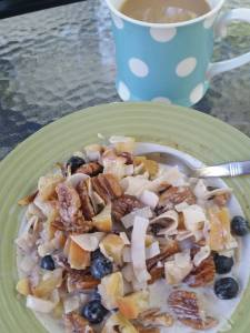Paleo Muesli has all the goodness of the traditional muesli, but without the grains. Delicious and nutritious, plus it's easy and quick to make. Eat it warm on cool mornings, or chow down late in the day for a great, quick supper!